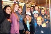 Le métro avec mes amis