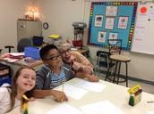 Ms. Adams photo bombing Wyatt!