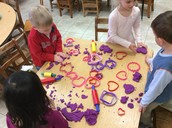 Valentine playdoh fun!