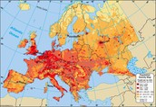 Population Map of Europe