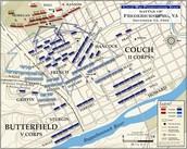 Map of the Battle of     Fredericksburg