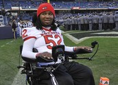 This is a picture that shows Eric LeGrand after his injury to his back