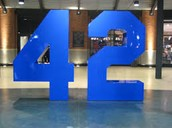 #42 is the number Jackie wore for life