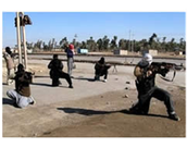 The Army of Islam training on a Gaza strip