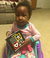 Tatiana enjoying a book!