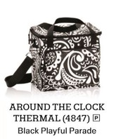 Around the Clock Thermal in Black Playful Parade!