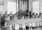 Who were placed in Residential Schools?