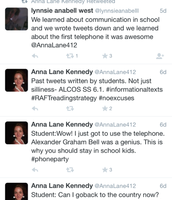 Ms. Kennedy's Class creating class Tweets on Twitter