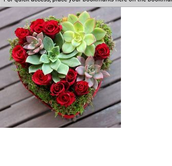 Succulents are becoming more and more popular so now they are being used to make floral arrangements that fit certain holidays