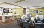 Waiting Area, Business Lounge and Refresh Bar