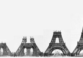 The Eiffel Tower being made