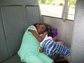 The bus ride back to school!