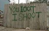 If you Loot we shoot