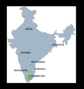 Map of Southern India