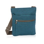 Organizing Shoulder Bag - Teal Houndstooth