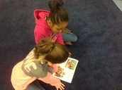 Buddy reading in Tulsa Silver's class