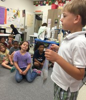 Greyson Shared a Snake Skin with Our Class
