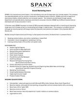 Brand Marketing Internship