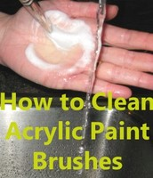 Glue and Acrylic Paint Need Soap for Better Cleaning.