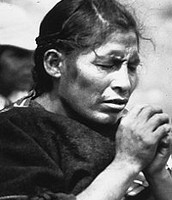 Aymara Woman Praying
