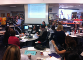 Site specialists lead English/Language Arts Zone worksop at GJH on 10/16
