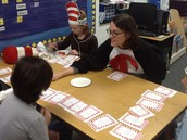 The Cat in the Hat plays rhyming games.