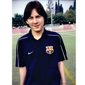 Messi as a kid