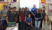 Jake Hardee and AVID 8 students