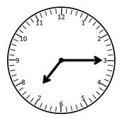 An analog clock