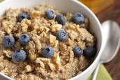 Blueberry and oatmeal