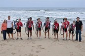 The 2011 team on day 1 in SF at Ocean Beach!