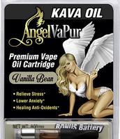 Kava Vape Oil Kava Cartridge by AngelVaPur Plus Battery – Vanilla Bean Kava
