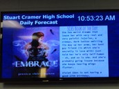 Stuart Cramer Students Use RiseVision to Promote Media Center