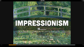 Impressionism Haiku Deck Warm Up Activity