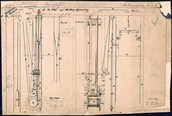 Diagram of an early elevator