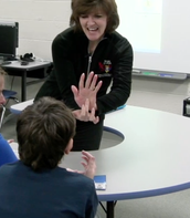 "Students learn ASL for ""sign"""