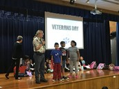 Great presentation this morning from Mr. Yeager on the purpose of Veterans Day.