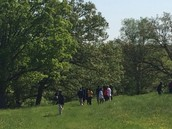 hiking on campus