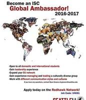 Leadership Opportunity: ISC Global Ambassador