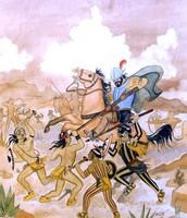Art depicting Pueblo Revolt