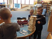 Makerspace-Brayden building a tower