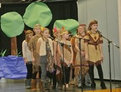 Fourth grade students preformed a new program about the adventures of Lewis and Clark.