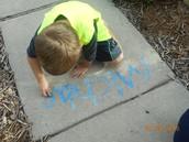 Summer Fun on the sidewalk!