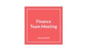 Finance Team Meeting Update