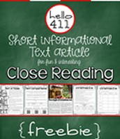 Twas the Night Before Christmas:  Short Text for Teaching Text Structure