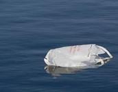 trash in the sea