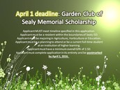 Garden Club of Sealy April 1st