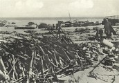 Guns were stock piled up on the beaches