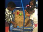 Experimenting in our sand table
