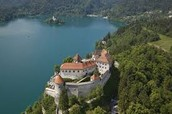 Bled Castle with Bled Lake